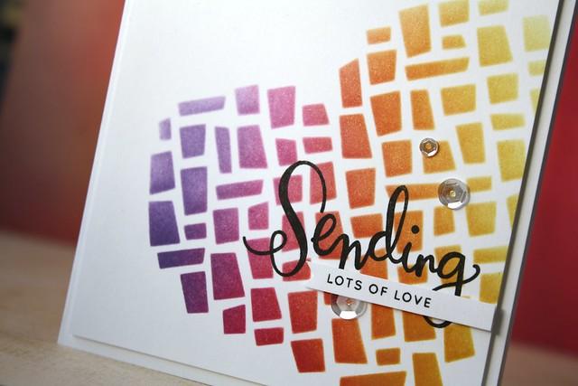 SSS-Mosaic Heart stencil
