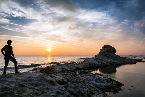sea sunrise mare alba reef goodmorning ancona scogli scogliera buongiorno passetto seggiola seggioladelpapa chairofthepope