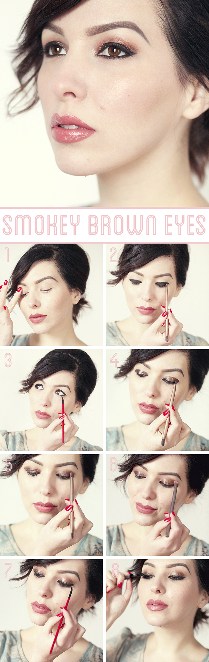 Smokey Brown Eye Tutorial