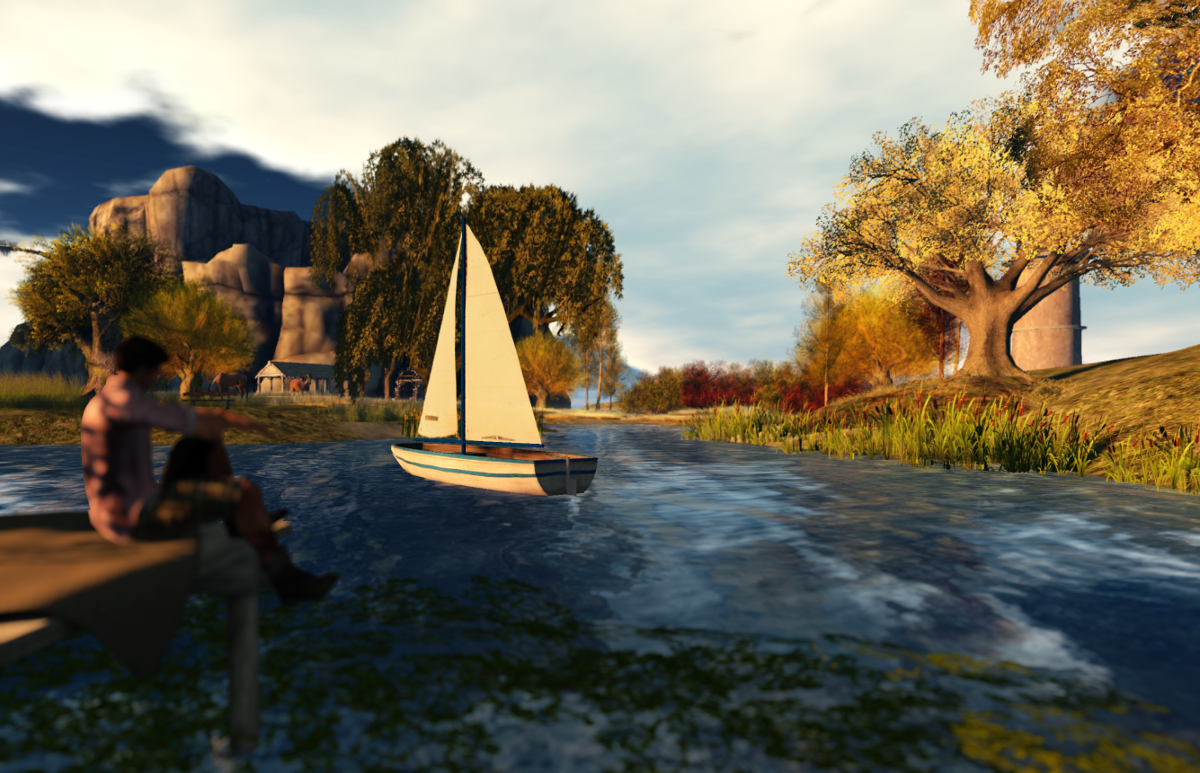 Arol's sim: a boat on the lake