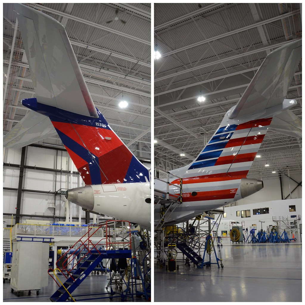Delta Air Lines & American Airlines Bombardier CRJ-900