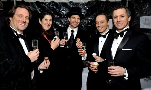 L-R: Jos Stella, Heather Campbell, Steve Birnhak, Alex Noto, David Noto at Altaneve On Ice, New York, NY, February 26, 2015 (Photo by Stephen Smith/Guest of a Guest)