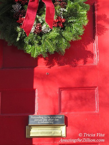 Christmas Door on Mulberry Street