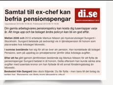Ex-chef befriar pensionspengar