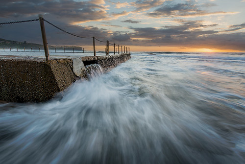 wet clouds sunrise flow waves australia northernbeaches