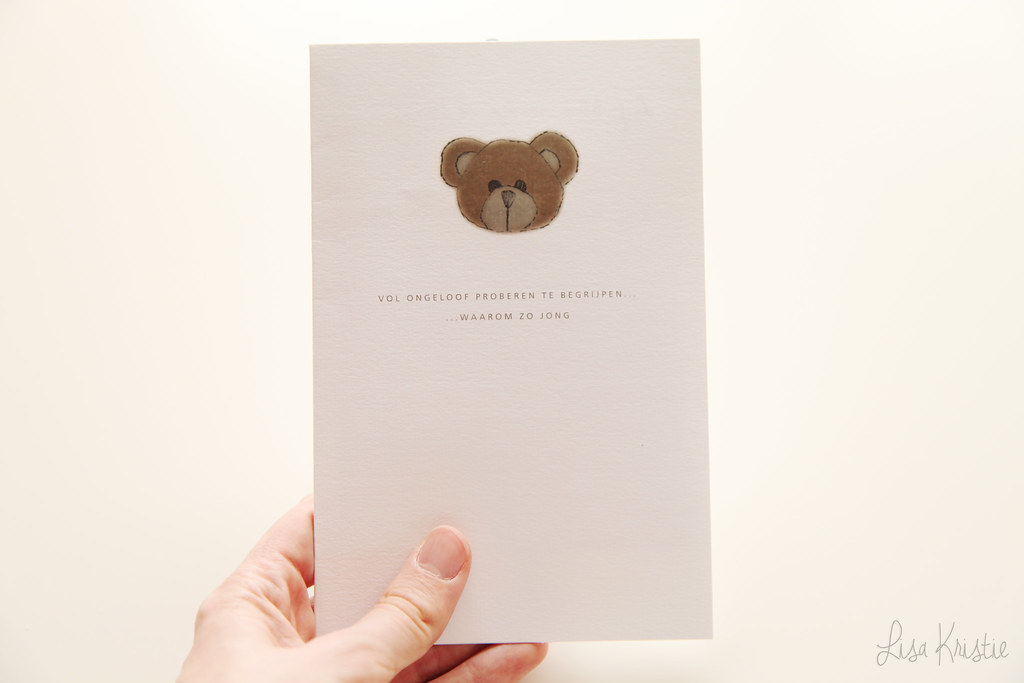 baby grieving card teddy bear stillbirth child loss death mourning sympathy