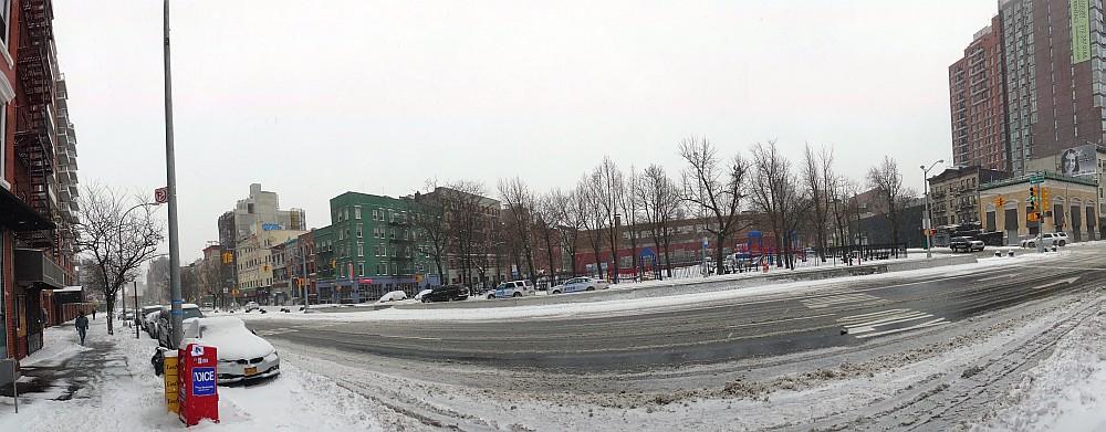 Houston Street in the Snow