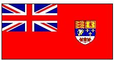 Canada Red Ensign Flag 1957-1965