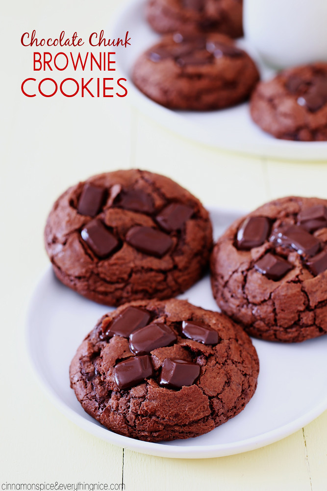 Fudgy chocolate cookies that will remind you of a brownie! They're ...