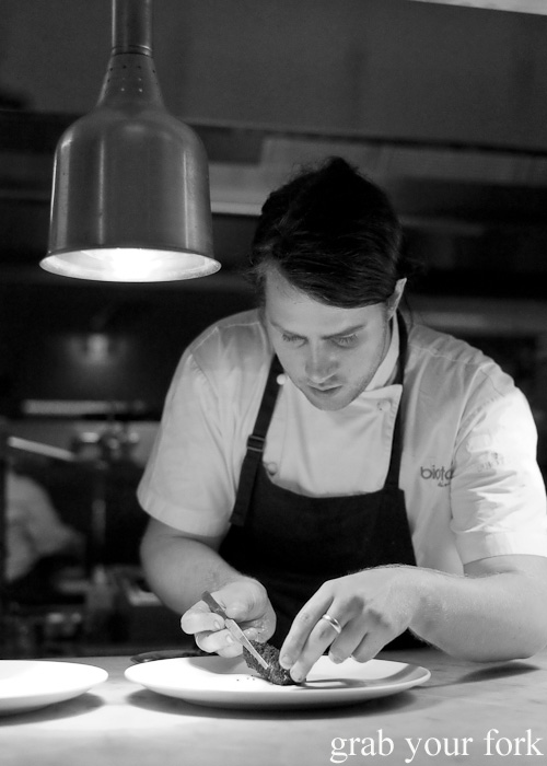 Chef on the pass at Biota Dining, Bowral