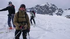 Zjazd z Rosablanche lodowcem Prefleuri.