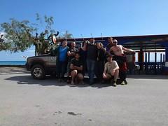 nissart team en crète avec notre hôte Yourgos