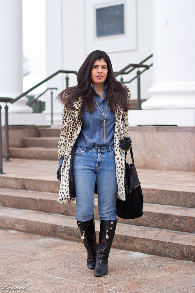 polka dot chambray, double denim, leopard coat-3.jpg