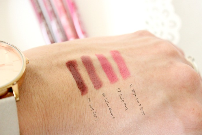 Essence Lip Liners Review & Swatches 2