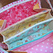 Touch of Spring- cosmetic bag (inside) by Gosia @ Quilts My Way