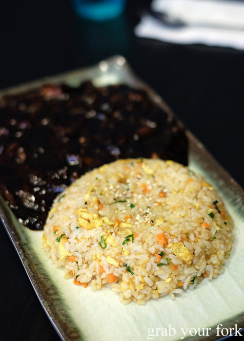 Vegetable fried rice with black bean sauce from Seoul Orizin, Haymarket Chinatown