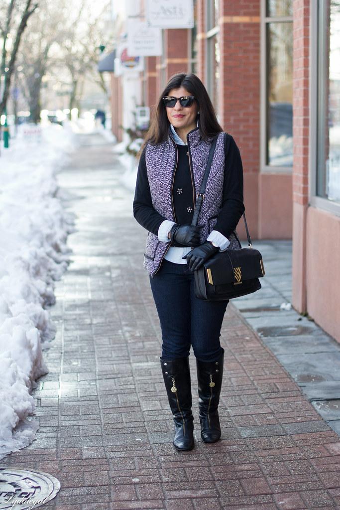 jeweled sweater, chambray shirt, herringbone vest.jpg