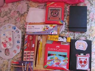 O que tinha na minha bolsa ( Art Class Bag)
