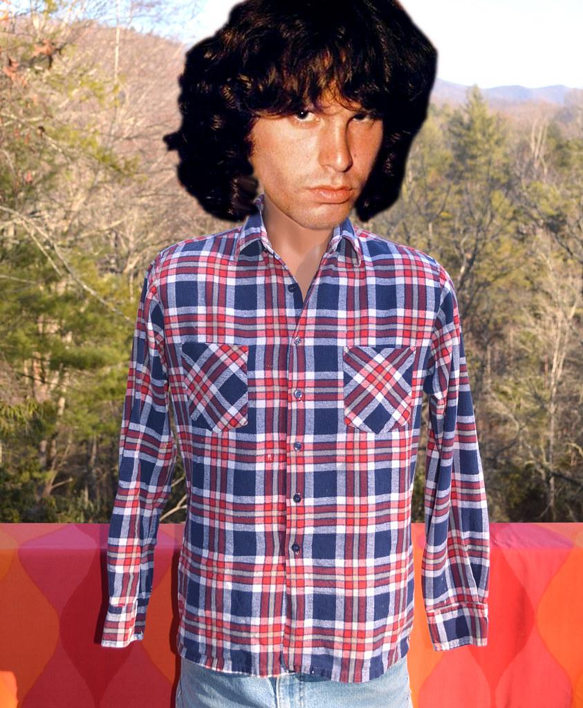 4b474b33b5c757 ... vintage wedgefield red navy blue plaid flannel shirt 70s 80s | by  Skippy Haha Vintage