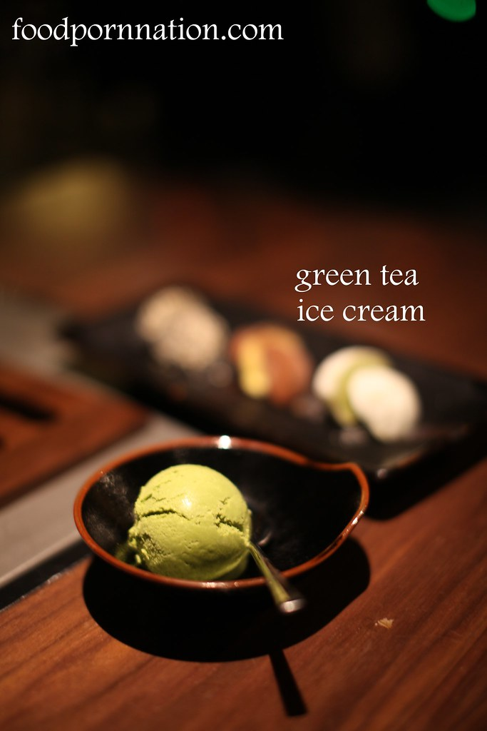 green tea ice cream - Kintan, Holborn