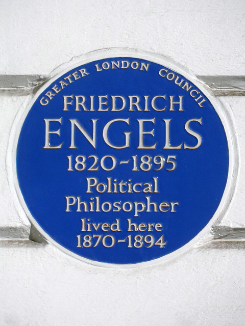 Photo of Friedrich Engels blue plaque