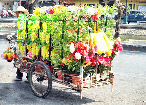Northern Thailand: Flower Seller in Chiang Mai
