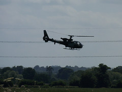 ARMY gazelle helicopter over Alton Barnes