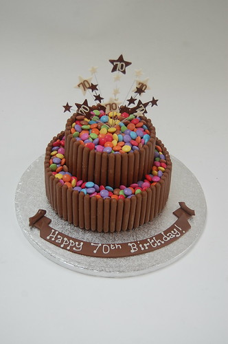 Chocolate Finger And Smartie Cake