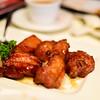 Pork ribs sauteed with champagne sauce