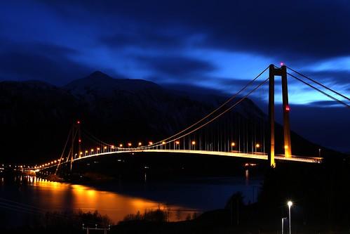 bridge sunset mountains nature water norway night canon exposure fjord kristiansund 700d gjemnessund