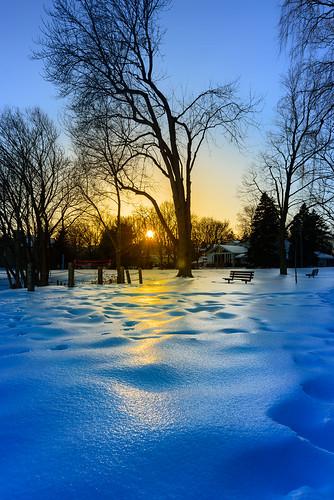 winter sunset sun snow ontario canada ice nikon nikond800