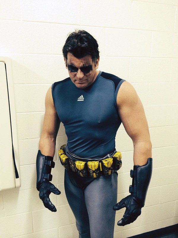 Batman Wearing Utility Belt Only