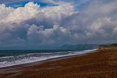 Clouds over the beach