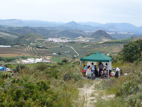 Romeria in Pruna: family feast overlooking view to Olvera