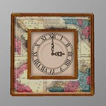 Scripted Vintage Clock Wood 3D Model