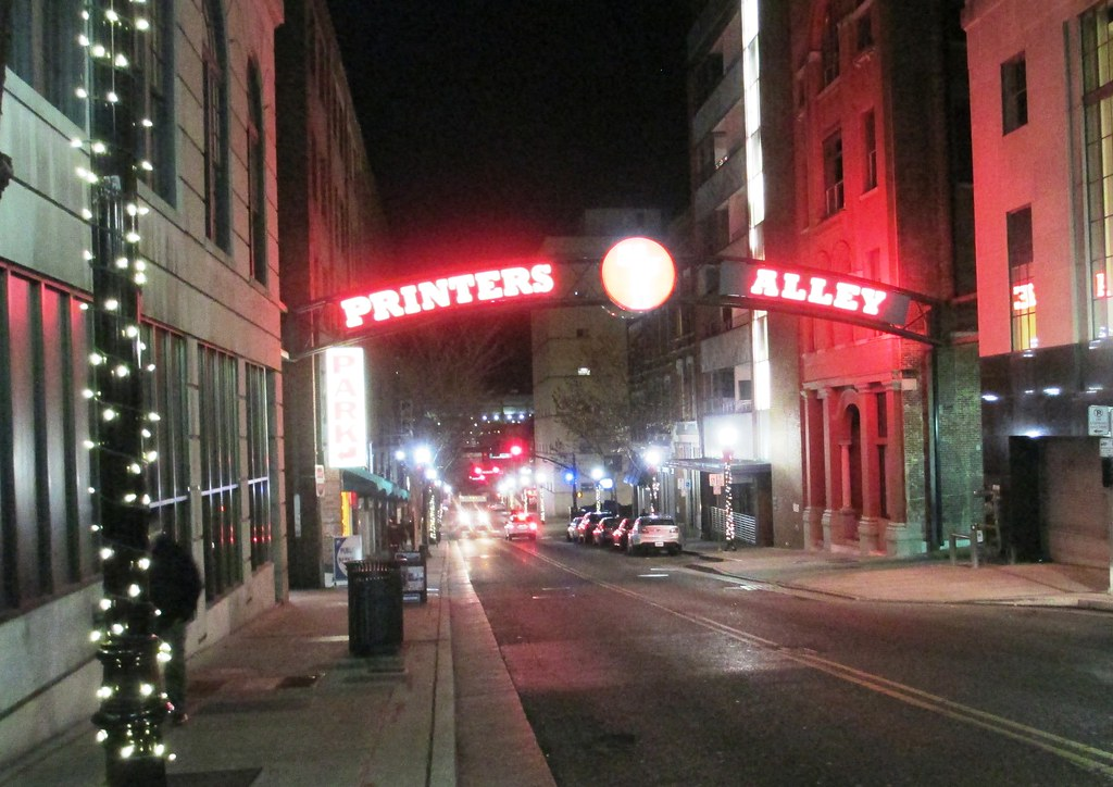 Printers Alley - Out and About in Nashville, Tenn., Nov. 20, 2014