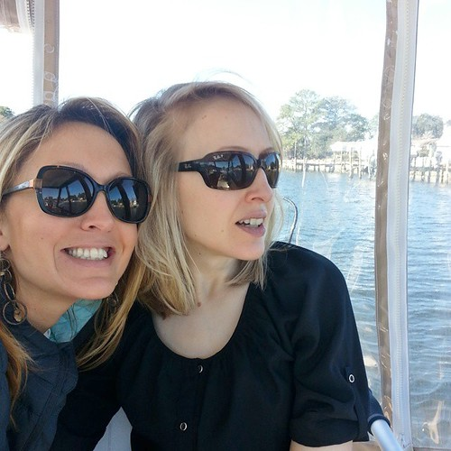Elissa and me on the bay at Virginia Beach