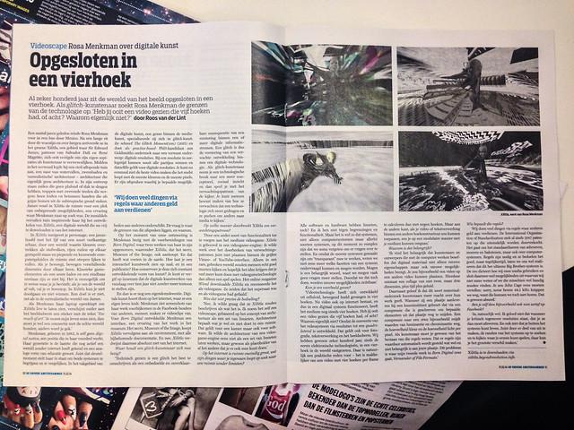Opgesloten in een vierhoek, Rosa Menkman interview Groene Amsterdammer