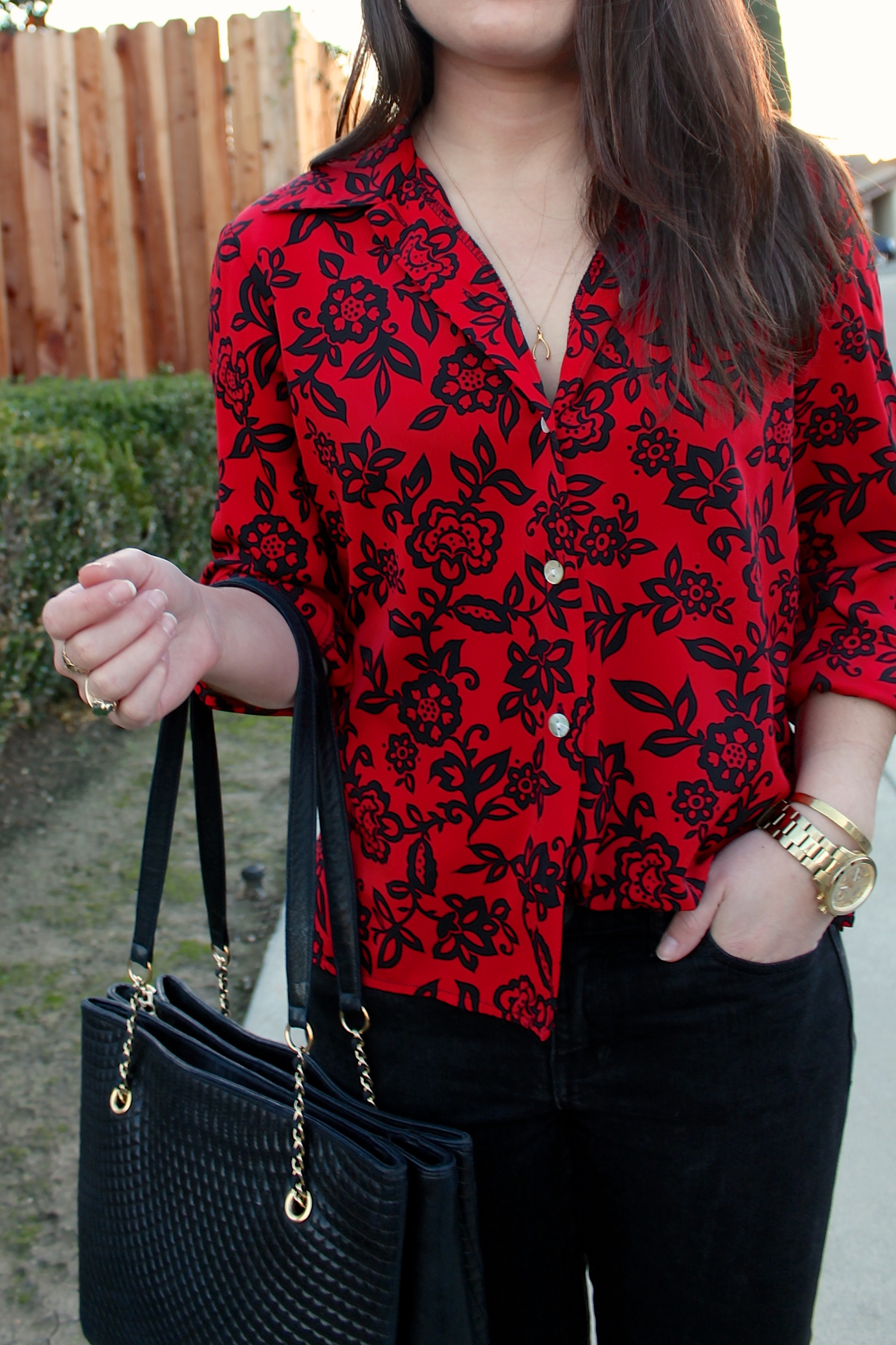 how to half-tuck a blouse #style #outfit #fashion