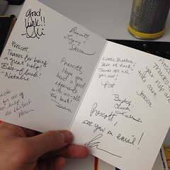 """Found this thank you card and I genuinely have no idea who these people are or what it's for. There seems to be a lot of thanking me for """"the help"""" which indicates nothing! Who are these people? Jessica, Sharon, Pat, Diana, Karen, Natalie, Kari, Ali, two"""