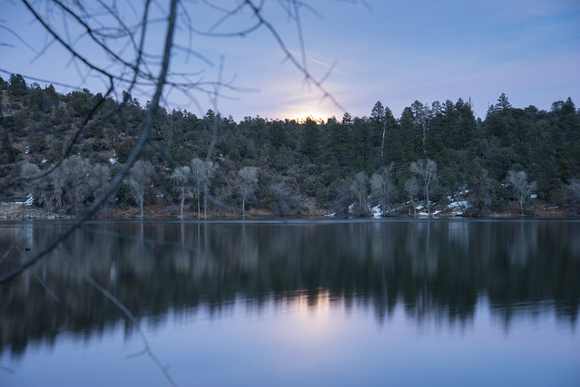Moon Rise Over Lynx Lake