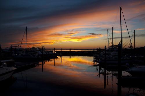sunset sky usa water pier boat nikon wasser unitedstates florida pensacola pensacolabay escambiacounty d5000 palafoxpier fisherbray