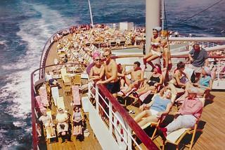 Image of  SS Rotterdam  near  Delfshaven. ssrotterdam rotterdam stoomschip ro016b schip ship shipping scheepvaart darktable