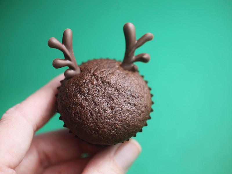 Chocolate Reindeer Cupcake