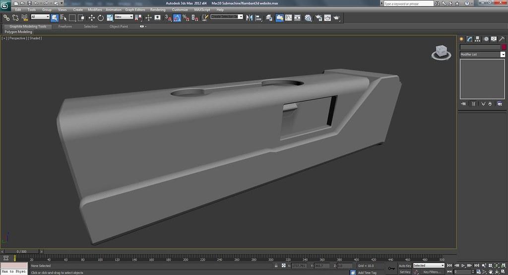 Mac 10 Sub Machine Gun Work In Progress Screenshots
