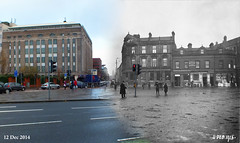 Merged Belfast street views - step into the past
