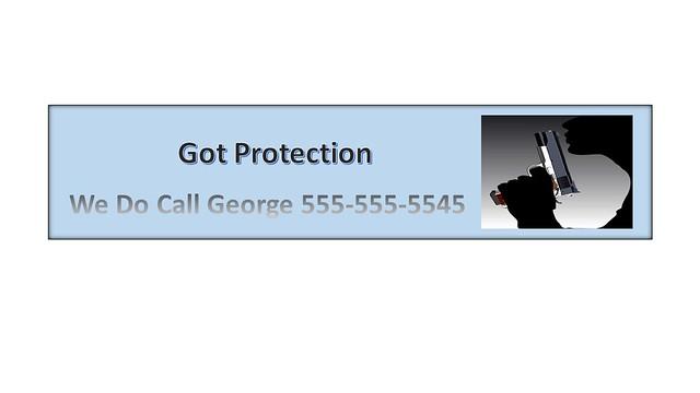 Protection Bumper Sticker