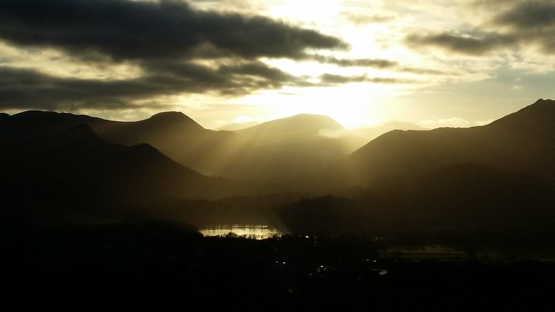 Derwentwater in late afternoon sun #sh