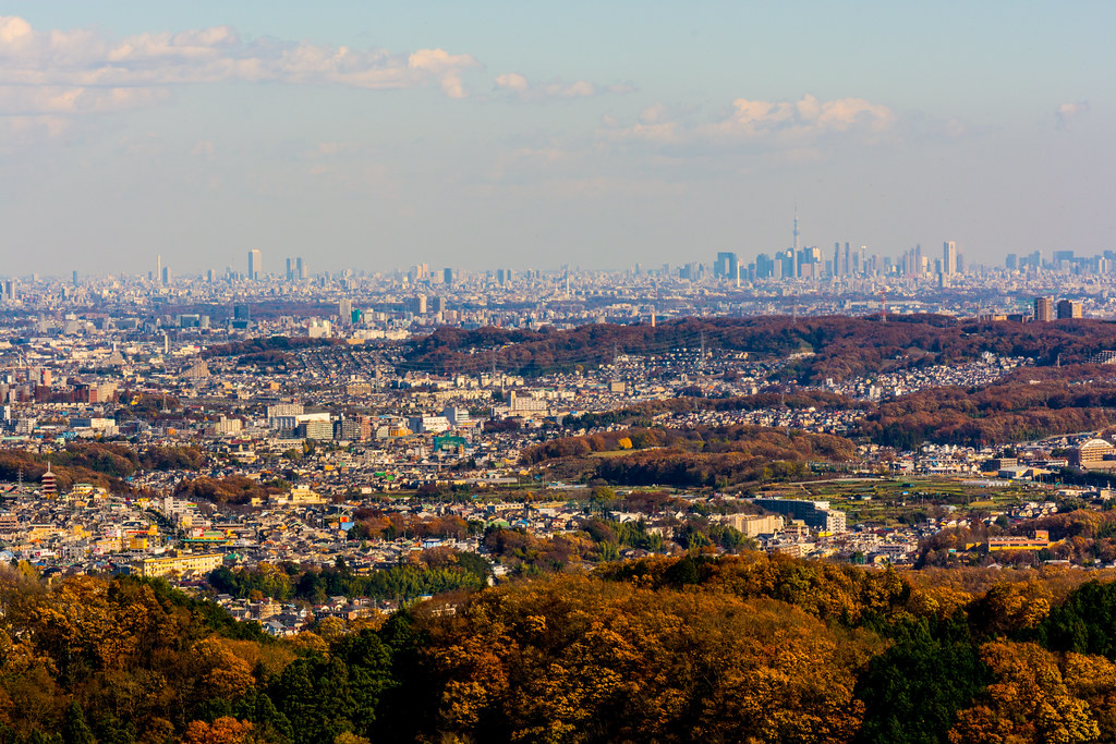 Panoramic View of the City of Tokyo from Mt. Takao