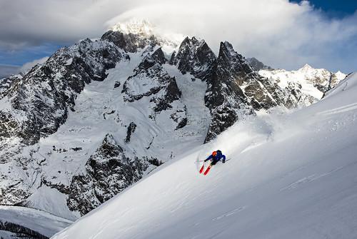 Matt Philippi, team Völkl, a Chamonix